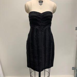 BCBG Black Silk Organza Cocktail Dress